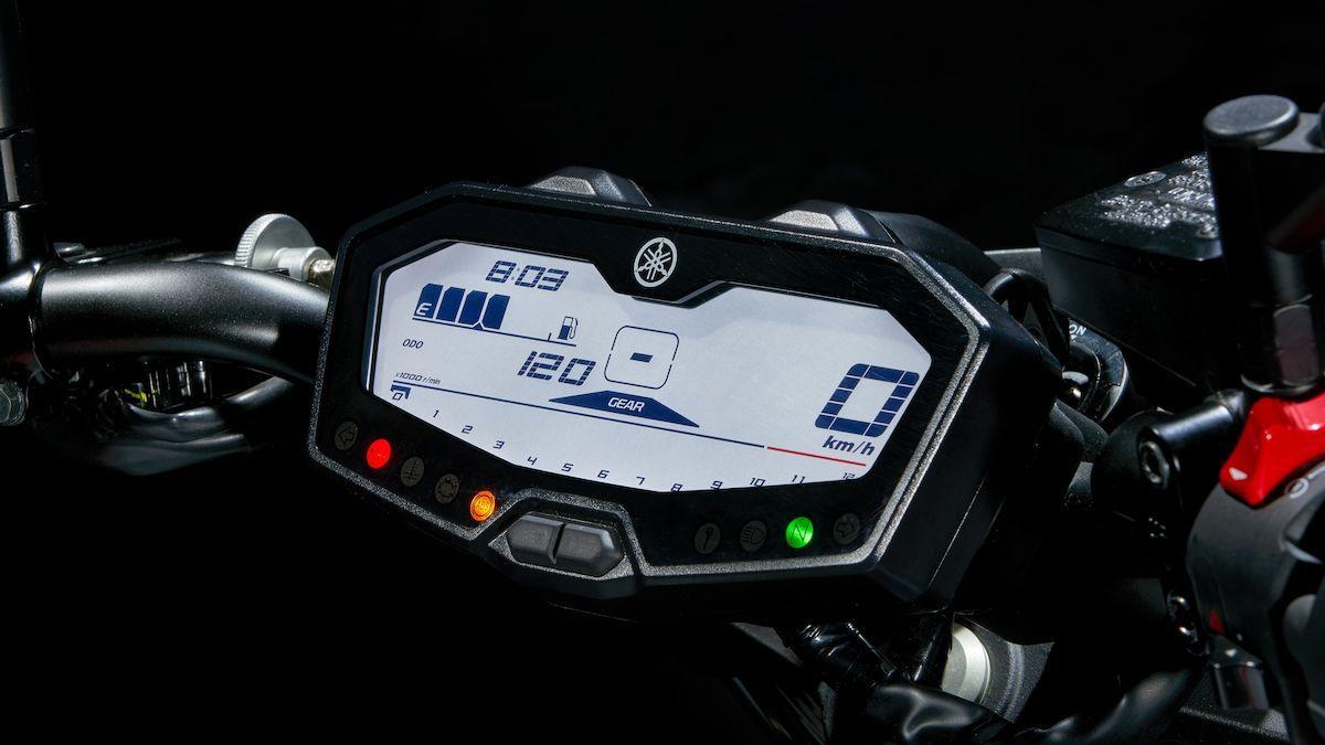 Yamaha MT-07 2019 tableau de vord numérique